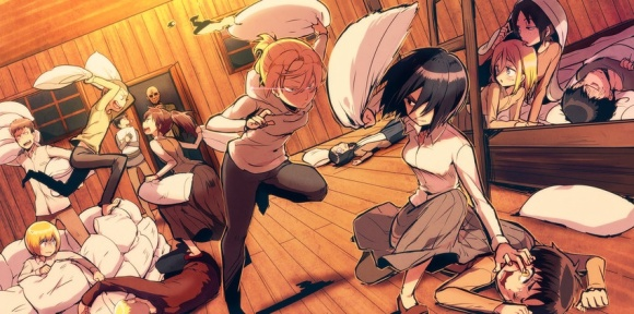 Pillow-Fight-shingeki-no-kyojin-attack-on-titan-35593413-850-423